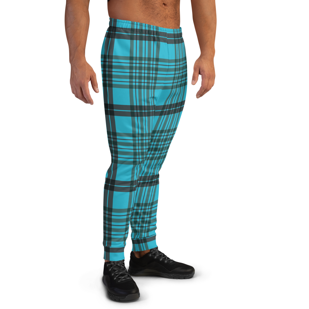 CRXWN | Drip or Dye | Plaid Season 1 Unisex Jogger Sweatpant Blue Reign