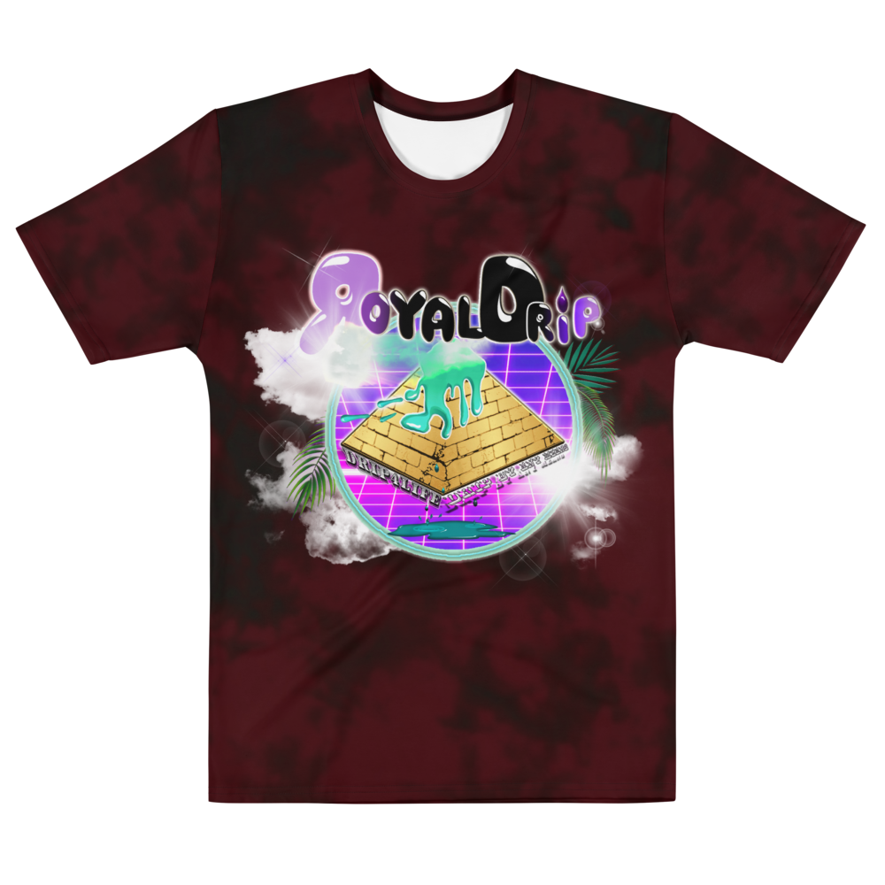 CRXWN | ROYAL Urban Resort 2021 | Royal Drip | D4L Drip By Any Means Wavy Season Synthwave Jersey Tee Gold Brick Pyramid Red