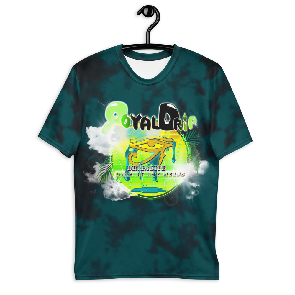 CRXWN | ROYAL Urban Resort 2021 | Royal Drip | D4L Drip By Any Means Wavy Season Synthwave Jersey Tee Golden Eye of Ra Spruce Lime