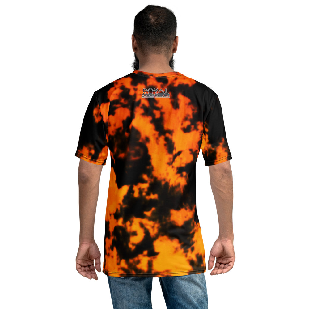 CRXWN | ROYAL Urban Resort 2021 | Royal Drip | D4L By Any Means Trippy 60s Acid Wash Jersey Tee Pixel Shades Gold Nefertiti Orange Starfire