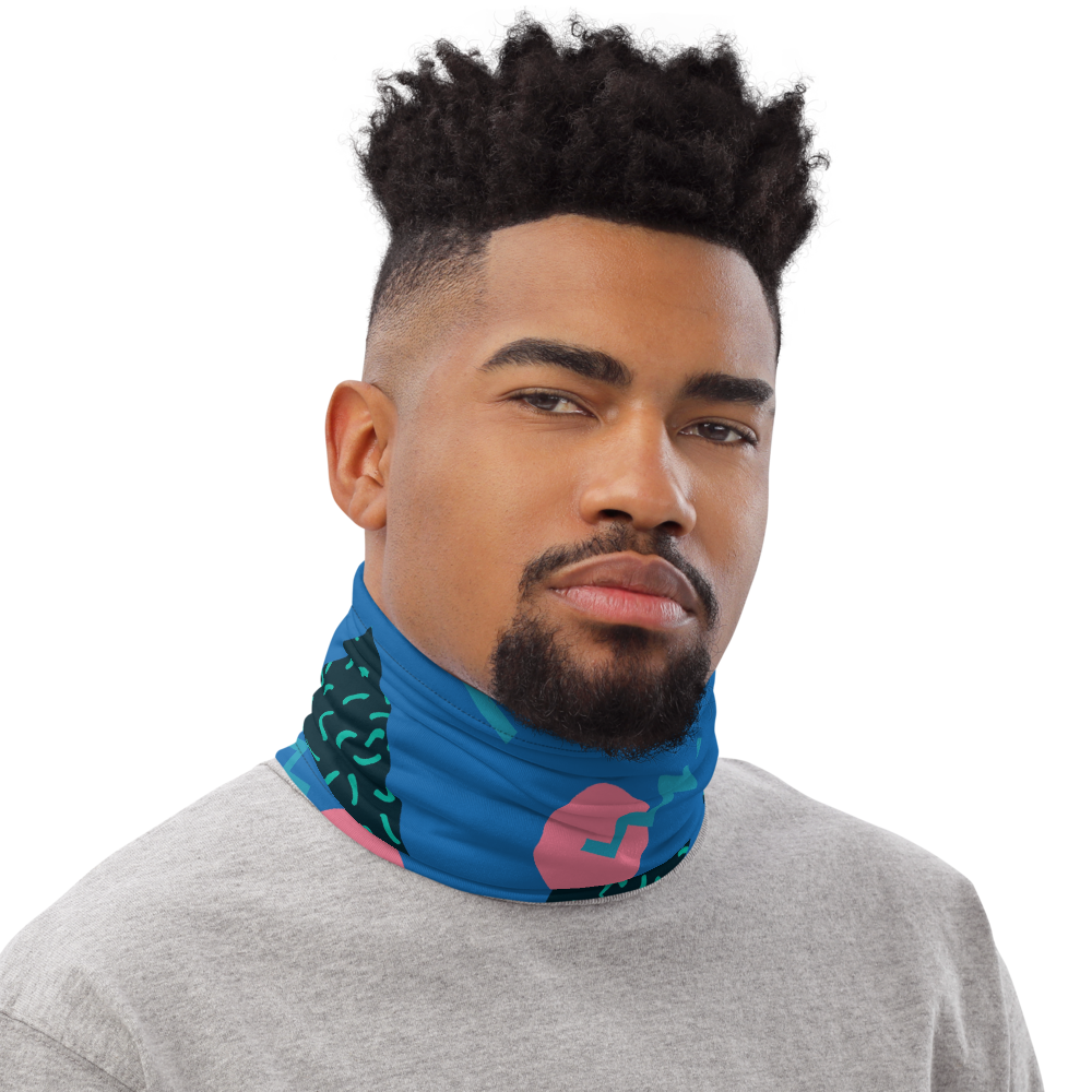 CRXWN | Drip or Dye Custom 80s Retro Throwback Vintage Print 3-in-1 UNISEX Face Mask