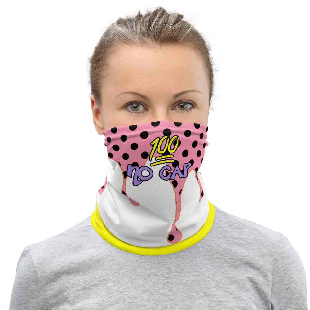 CRXWN | Drip or Dye Custom Ice Cream Candy Drip Polka Dot Print 3-in-1 UNISEX Face Mask Pretty In Pink