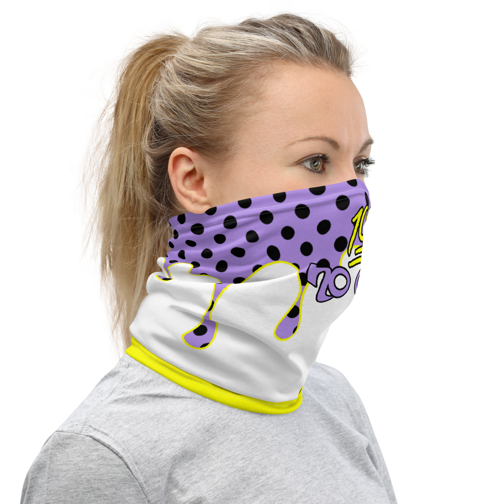 CRXWN | Drip or Dye Custom Ice Cream Candy Drip Polka Dot Print 3-in-1 UNISEX Face Mask Classic Purple