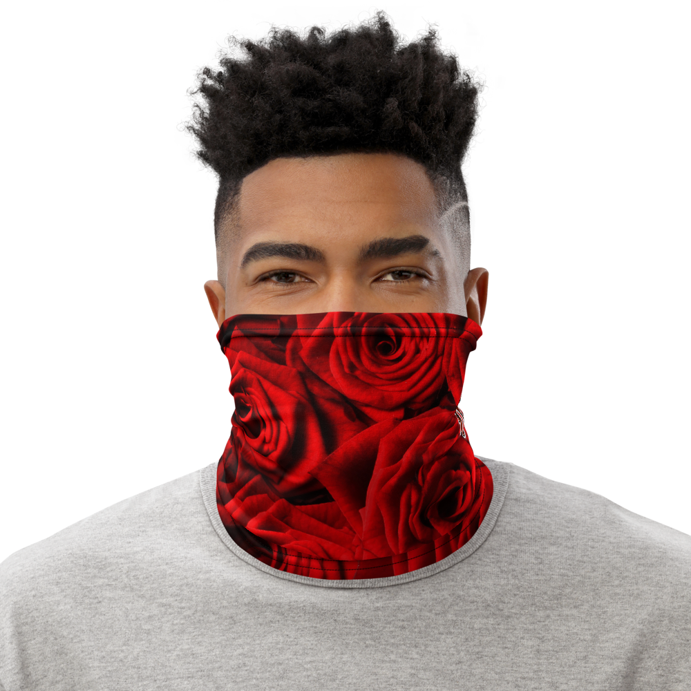 CRXWN | Drip or Dye Custom Vintage Rich Roses Print 3-in-1 UNISEX Face Mask