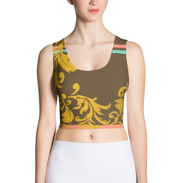 ROYAL. Heiress Brown Spandex Crop Top