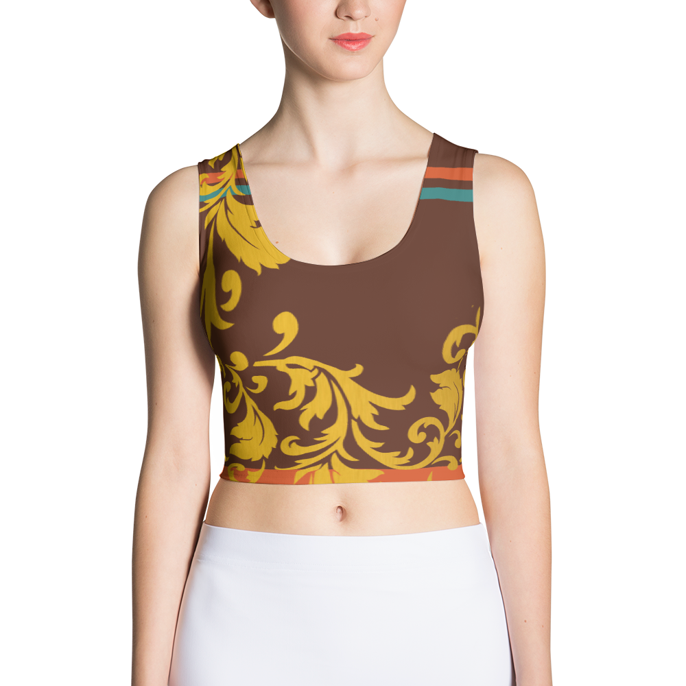 ROYAL. Heiress Maroon Spandex Crop Top