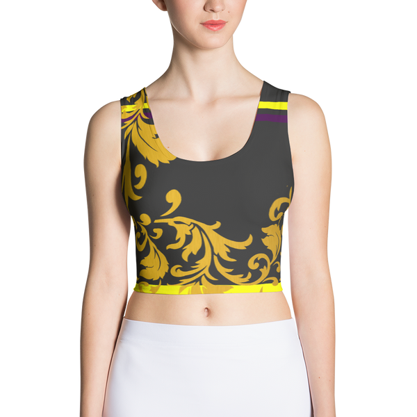 ROYAL. Heiress Off Black Spandex Crop Top