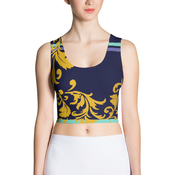 ROYAL. Heiress Royal Blue Spandex Crop Top