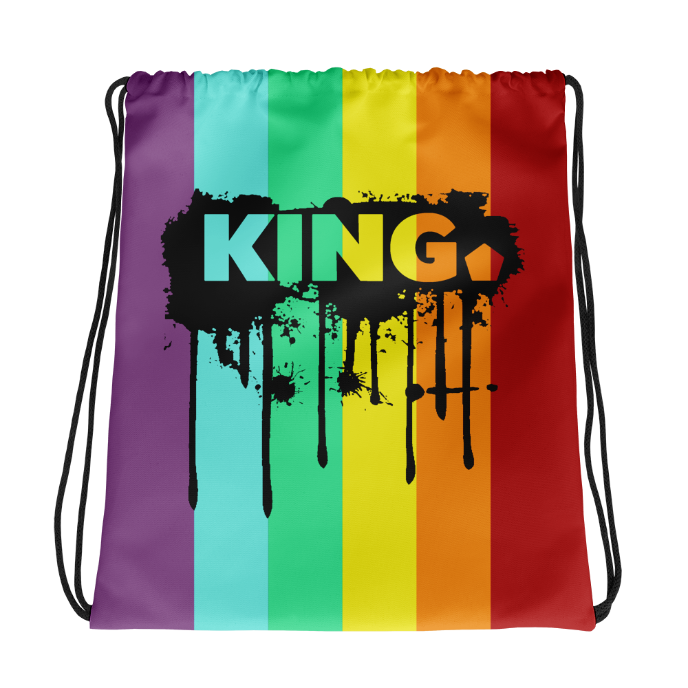 PRIDE 2018 King Drip & Splatter Drawstring Bag