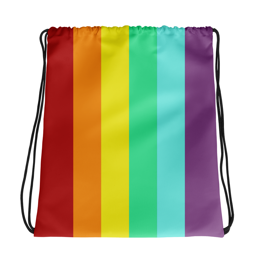PRIDE 2018 Queen Drip & Splatter Drawstring Bag