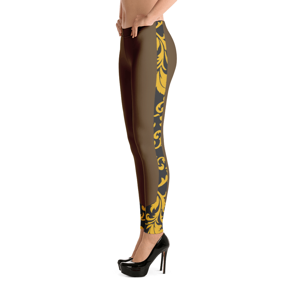 ROYAL. Heiress Brown Spandex Leggings