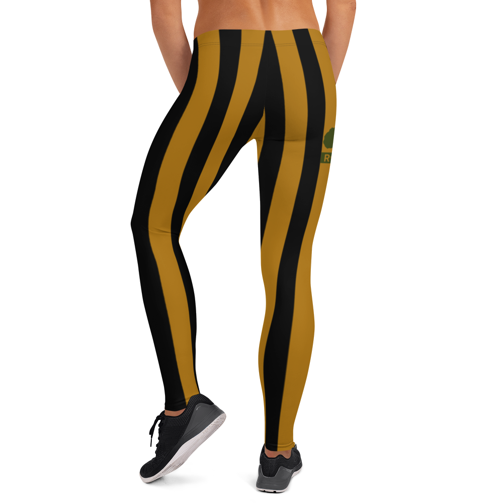 ROYAL. WEAR | ZEBRA CHROMA STRIPES LEGGINGS Honey Gold
