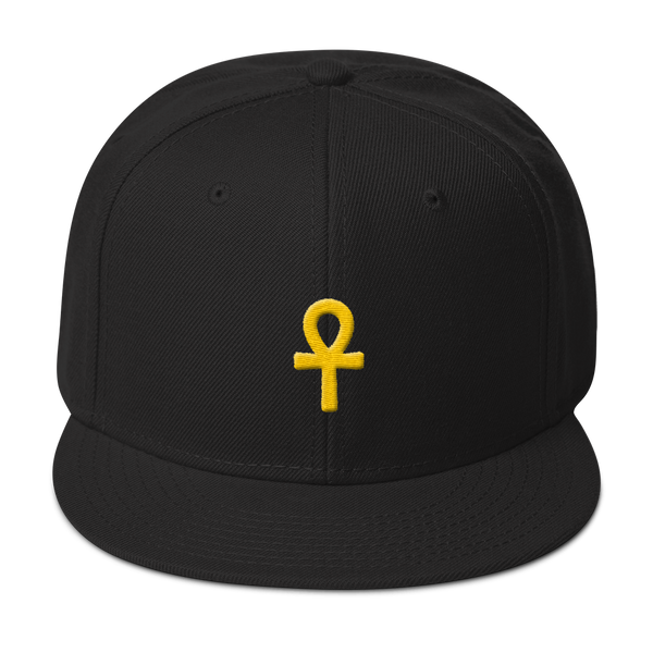.ROYAL. ankh snapback BLACK