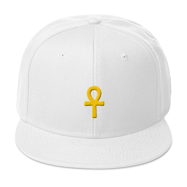 .ROYAL. ankh snapback Lotus White