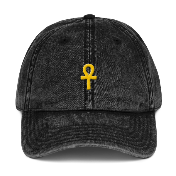 .ROYAL. ankh cap VINTAGE BLACK