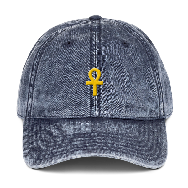 .ROYAL. ankh cap VINTAGE DENIM