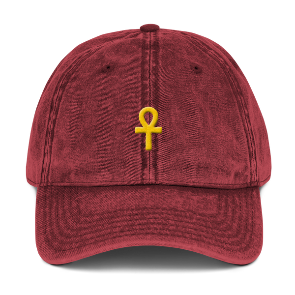 .ROYAL.  ankh cap VINTAGE RED