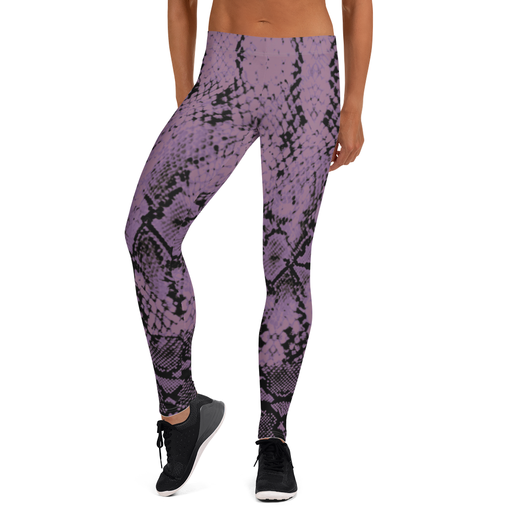 ROYAL. WEAR | QUEEN ISIS COBRA SNAKE PRINT LEGGINGS. PURPLE