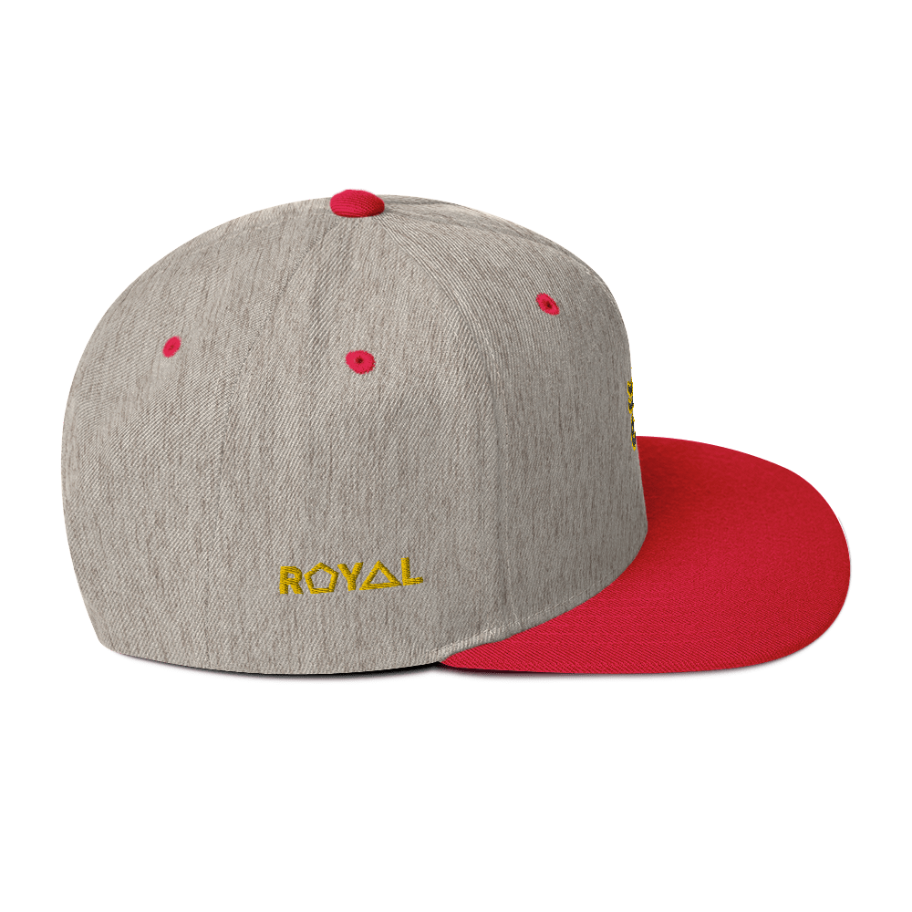ROYAL. | Urban Resort | Nu Afrique Eye of Ra Crxwn Snapback Heather Grey Honeycomb 3 VARIETIES