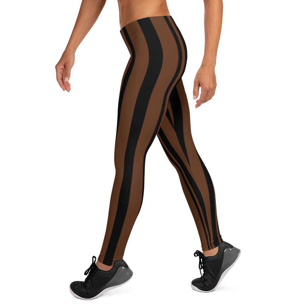 ROYAL. WEAR | ZEBRA CHROMA STRIPES LEGGINGS Coco Choco