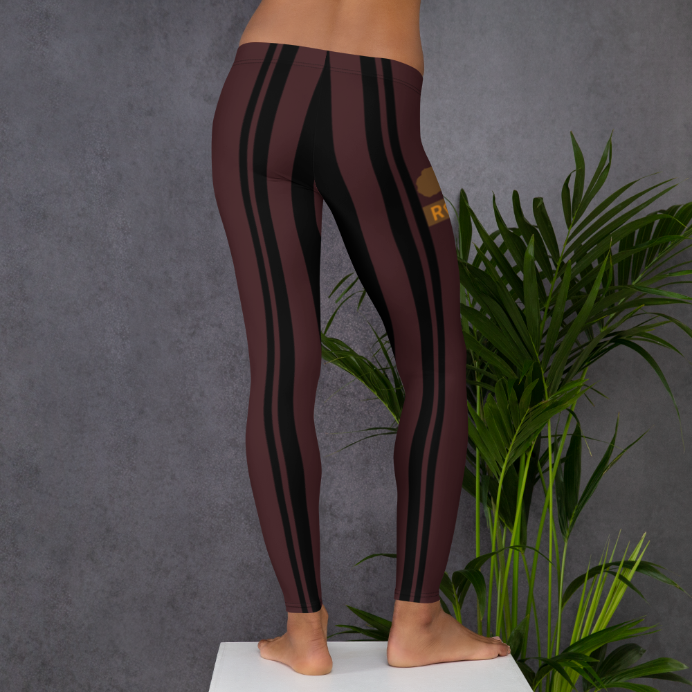 ROYAL. WEAR | ZEBRA CHROMA STRIPES LEGGINGS Maroon