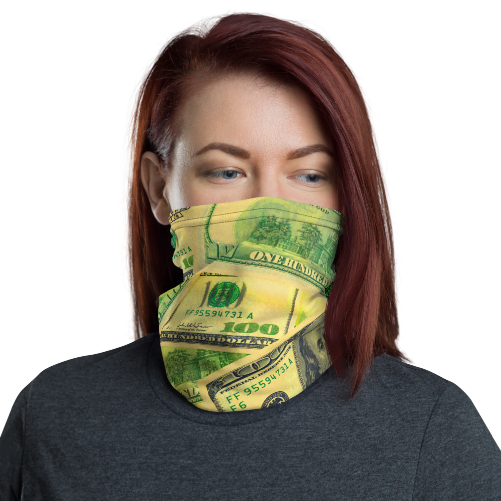 CRXWN | Drip or Dye Custom All About the Money Print 3-in-1 UNISEX Face Mask Green