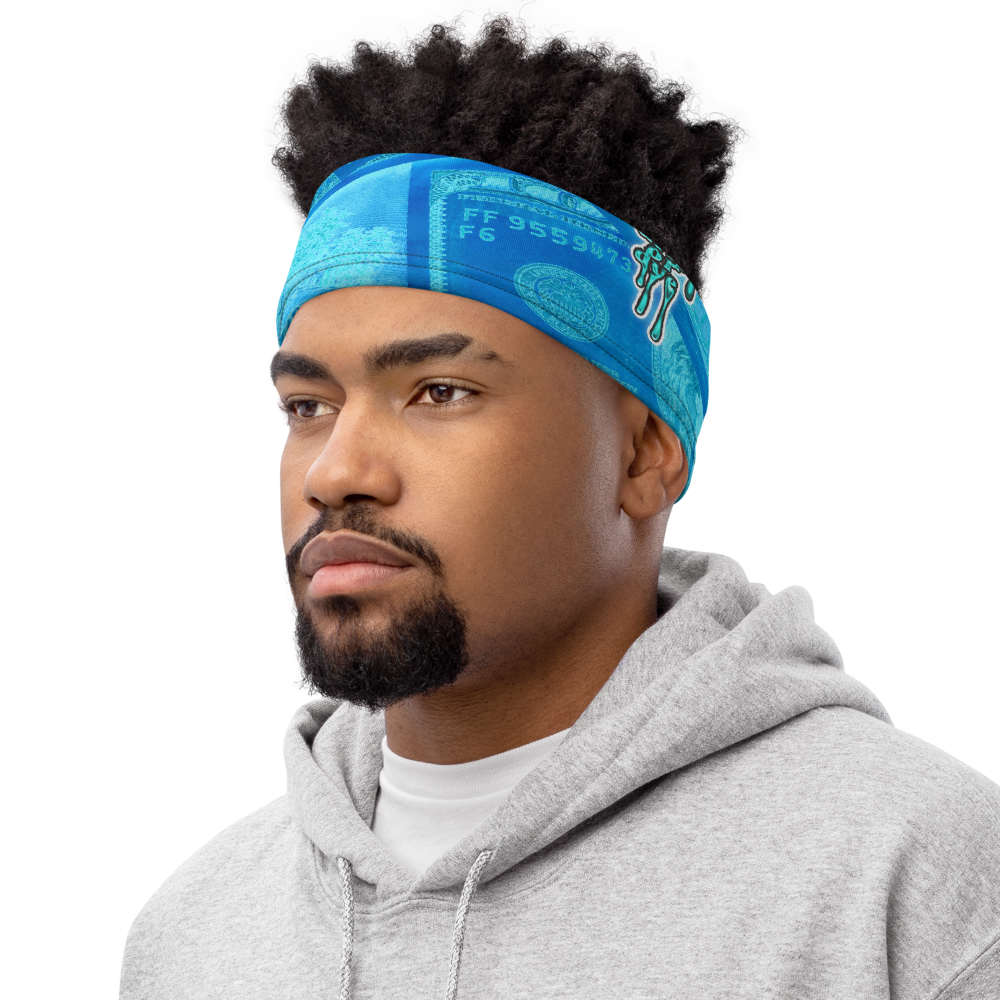 CRXWN | Drip or Dye Custom All About the Money Print 3-in-1 UNISEX Face Mask BlueFace