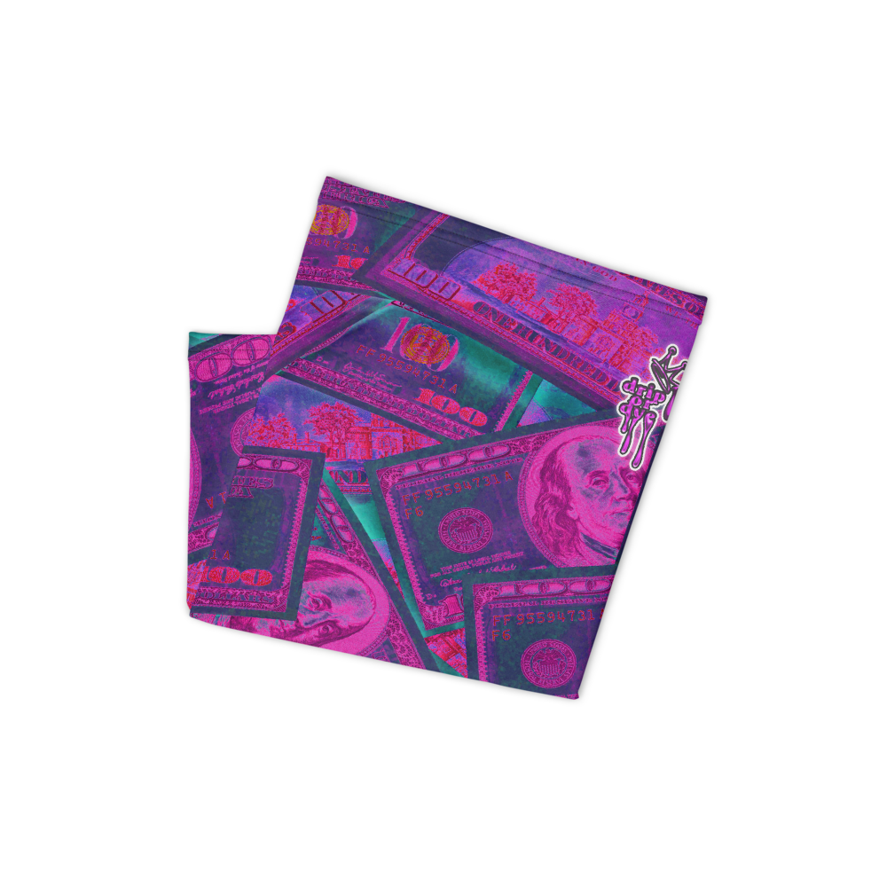 CRXWN | Drip or Dye Custom All About the Money Print 3-in-1 UNISEX Face Mask Pink Guap