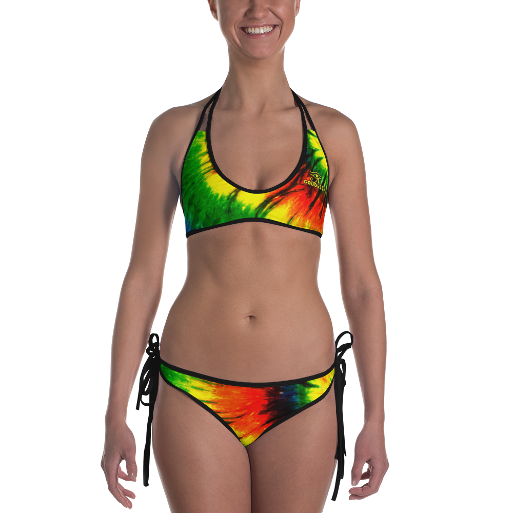 ROYAL. |  Urban Resort | CONSCIOUS CULTURE Eye of Ra Reversible Bikini RASTA 2