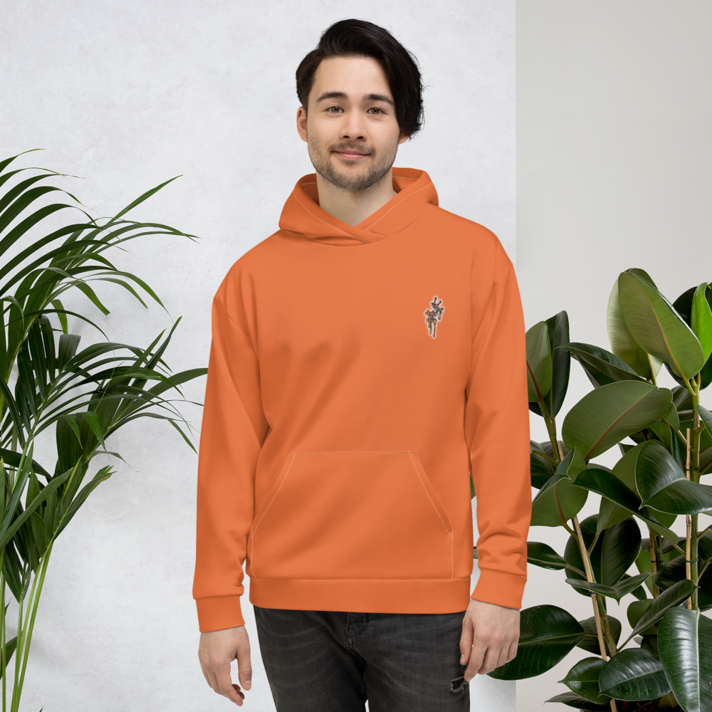 CRXWN | Drip or Dye Sunblocked Run Star Hike Orange Soda Solid UNISEX Hoodie