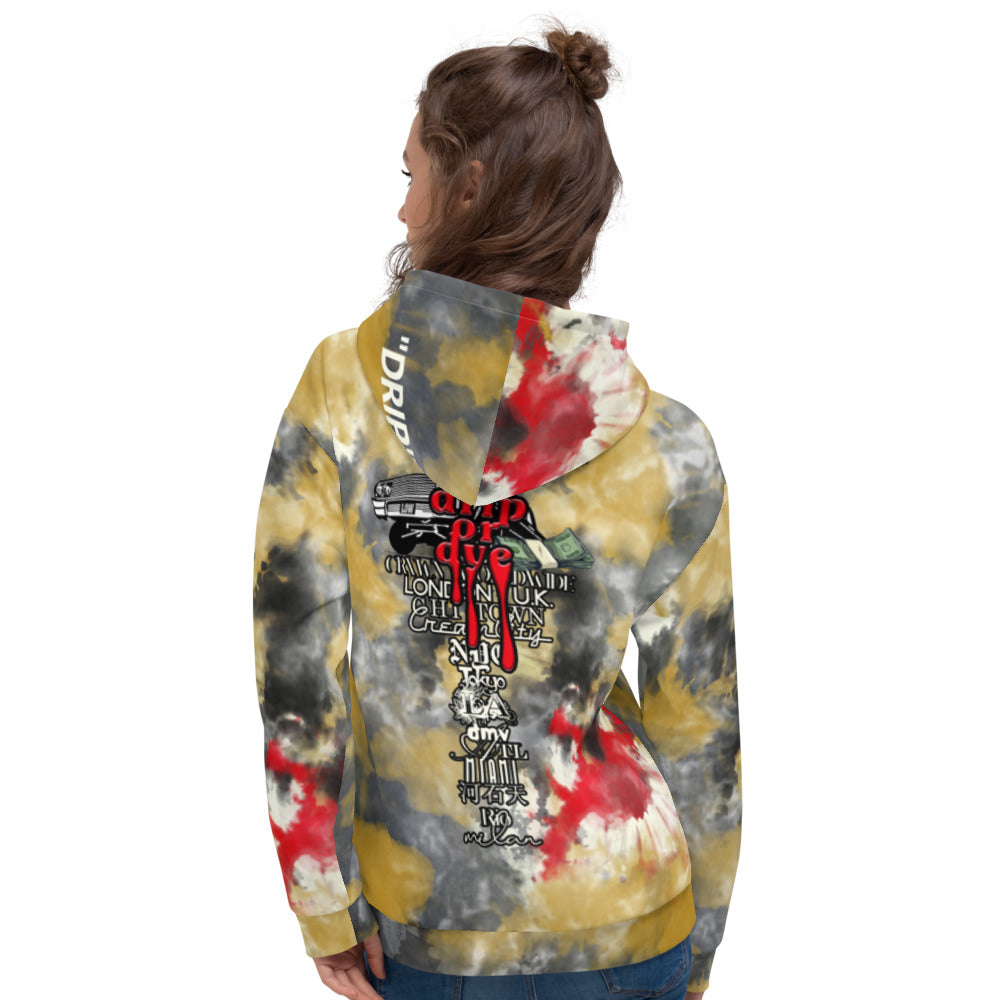 CRXWN | Drip or Dye 5 Retro Off White X Ice Dye UNISEX Hoodie