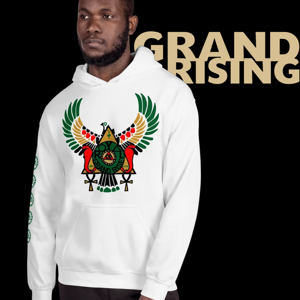 ROYAL. | RA PARTY | GRAND RISING Unisex Hoodie Nubian Flag And Gradient Varieties