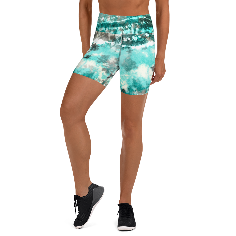 CRXWN | Drip Or Dye Max 90 Recraft Hyper Tourquoise HER Collection Tye Dye Yoga Shorts