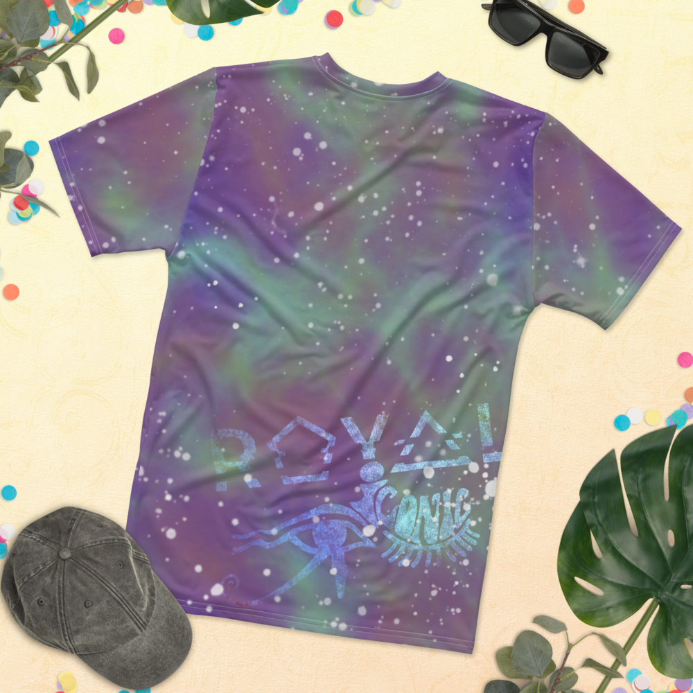 ROYAL ICONIC | Acid Wash Bleach Dye Galaxy Stars Sage & Retrogrades Ladies Unisex Cut Crewneck Jersey Tee Ascend Ether 2