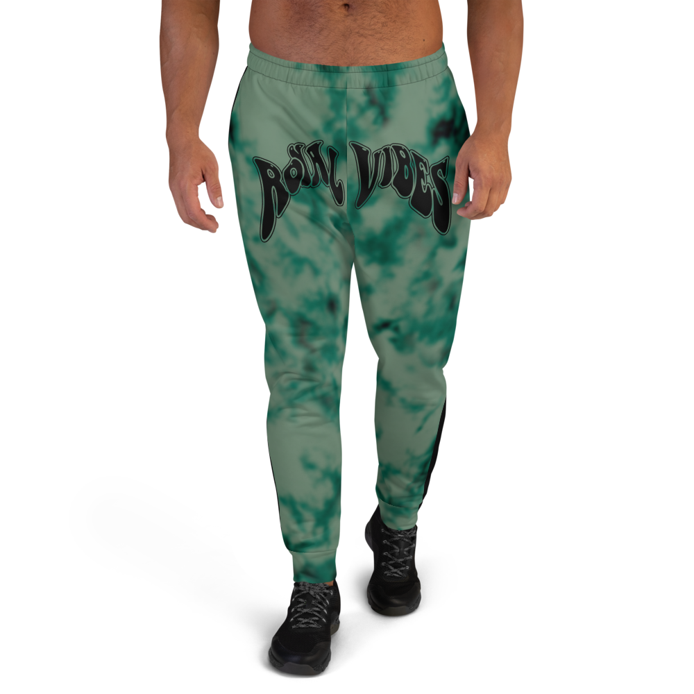 CRXWN | Royal Urban Resort 2021 | Trippy Drippy Bleach Acid Wash with Malibu Stripe Unisex Jogger Seafoam Teal Bleach Grunge Acid Dye