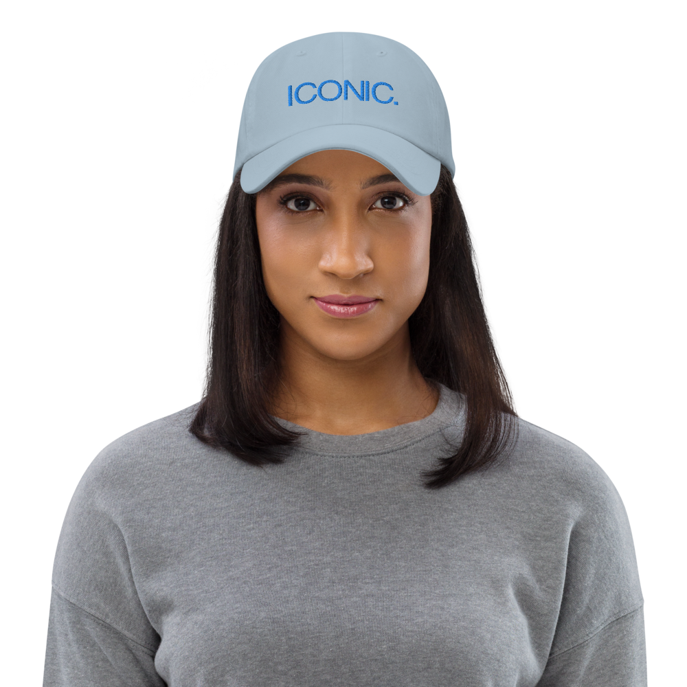 ROYAL ICONIC. | Embroidered Logo Unisex Classic Cap Dad Hat Mom Cap Baby Blue w/ Aqua Teal Thread