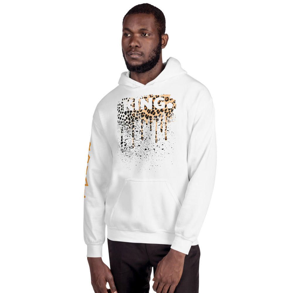 .R.O.Y.A.L. KING DRIP HOODIE HUMAN-IMAL LEOPARD WH