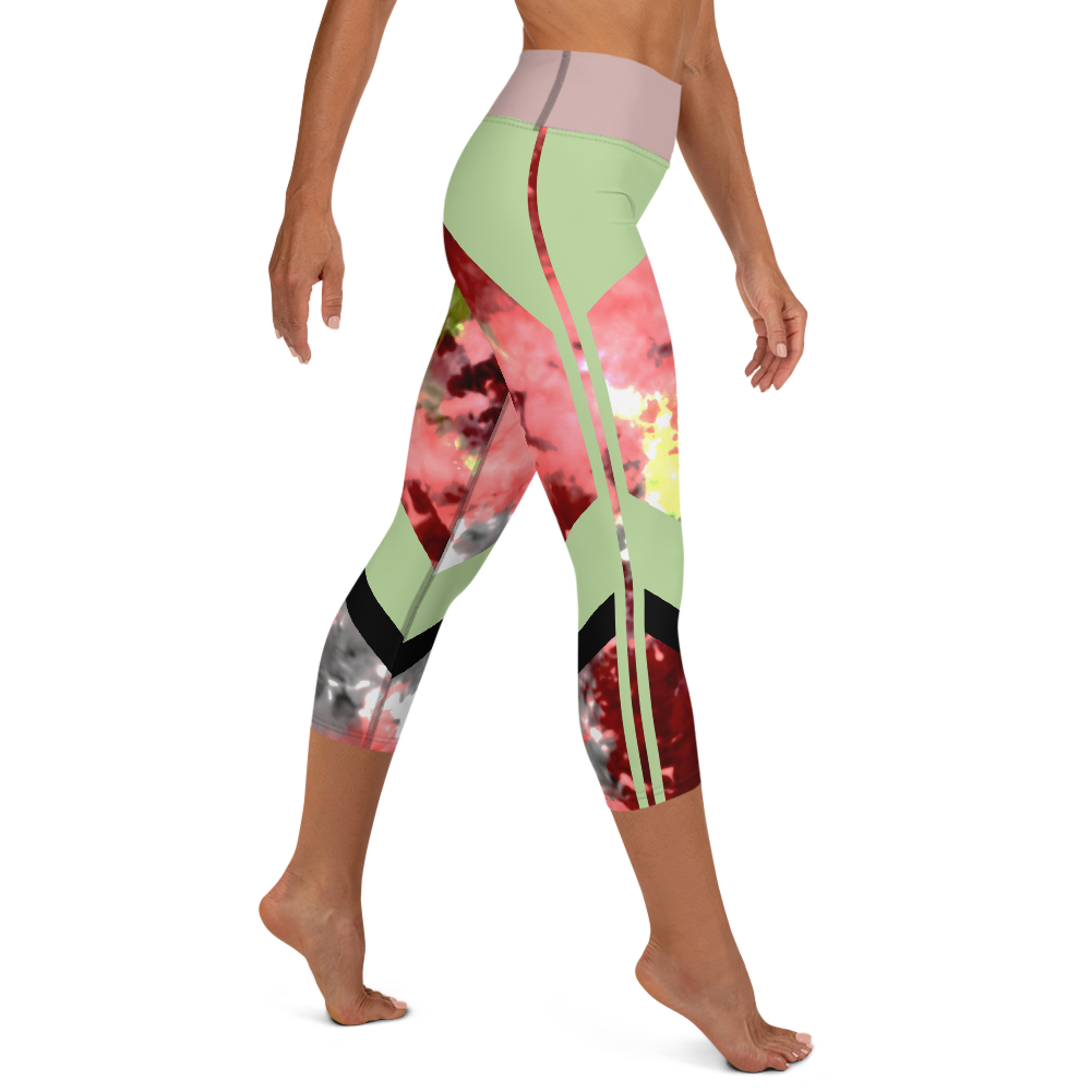 CRXWN | Drip or Dye Max Verona Guava Ice HER Collection Acid Wash Tye Dye Yoga Capri Leggings