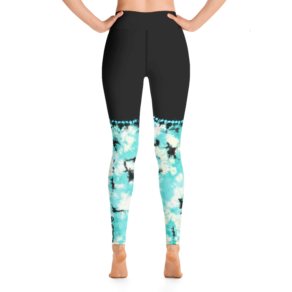 CRXWN | Drip Or Dye Max 90 Recraft Hyper Tourquoise HER Collection Tye Dye Yoga Leggings