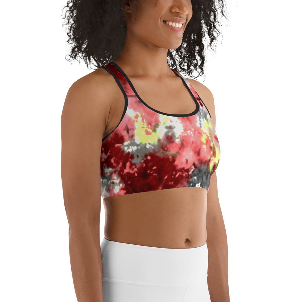 CRXWN | Drip or Dye Max Verona Guava Ice HER Collection Acid Wash Tye Dye Sports Bra