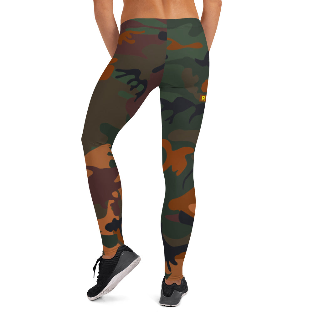 ROYAL WEAR | CAMO SAHARA NAMASTE ASHE COMFORT LEGGINGS
