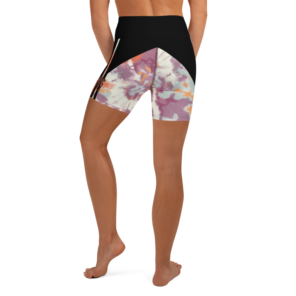 CRXWN | Drip or Dye Max 720 Pistachio HER Collection Acid Wash Tye Dye Yoga Shorts