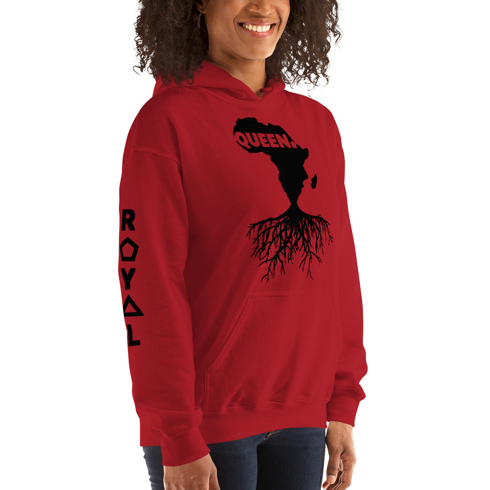 ROYAL. | Nu Afrique CRXWN and ROOTS | Queen Hoodie Black (2 VARIETIES)