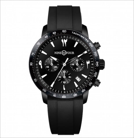 Culture Chronograph Sport- Black/White - Nine Four Watches