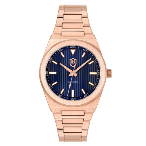 Successor Automatic- Rose Gold/Blue Dial
