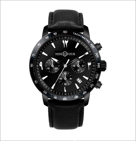 Culture Chronograph- Black/White - Nine Four Watches