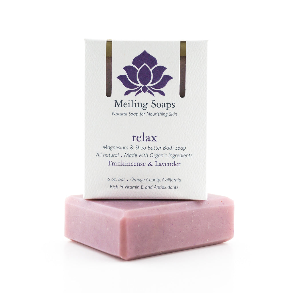 Natural Soap made with organic ingredients frankincense & lavender essential oils