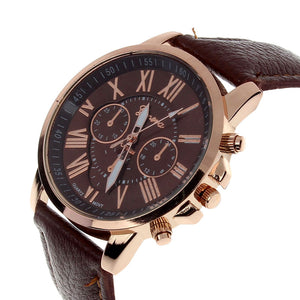 Sunsenstone Leather Swiss Watch