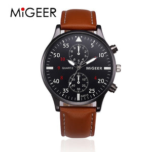Migeer Luxury Leather Watch