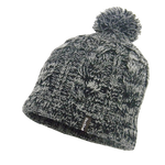 Waterproof Beanie Cable Pompom Gray
